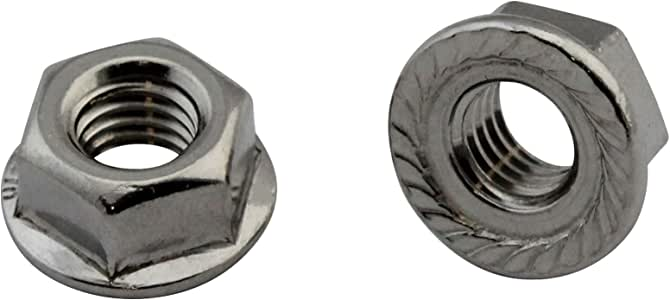 50/pieza//–/Brida tuercas con sperrverz Ahnung DIN 6923//ISO 1661//–/Acero inoxidable, A2, V2/A