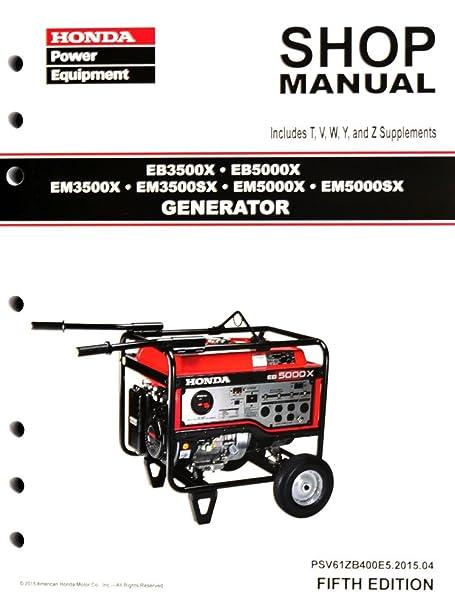amazon com honda eb3500 eb5000 em3500 em5000 generator service rh amazon com honda generator shop manual honda generator eu1000i shop manual