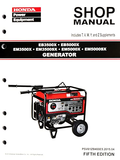 amazon com honda eb3500 eb5000 em3500 em5000 generator service rh amazon com honda em5000sx repair manual Honda Manual Transmission Fluid