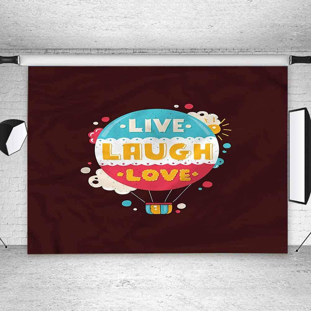 5x5FT Vinyl Photo Backdrops,Love,Air Balloon Cheerful Retro Photo Background for Photo Booth Studio Props