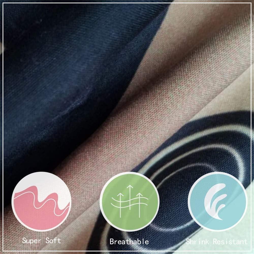 JKCloth Ensemble Housse de Couette Vieille Voiture Lavable Souple 3 Pcs en 100/% Polyester Imprim Parure Dessus de Lit Microfibre 2xTaies doreillers Housse de Coussin 140x200cm