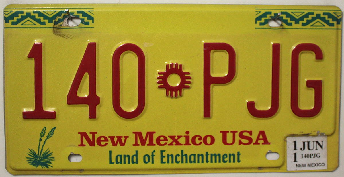 US - Nummernschild New Mexico Nummernschilder USA