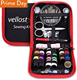 Arts & Crafts : Sewing KIT, Tackle Any Fashion Emergency - Clothing Repairs at Home & in The Office. Highly-Rated Mini Sew Kit for Travel Trips. Mending Supplies & Accessories (Black&Red-Trim, Pack of 1)