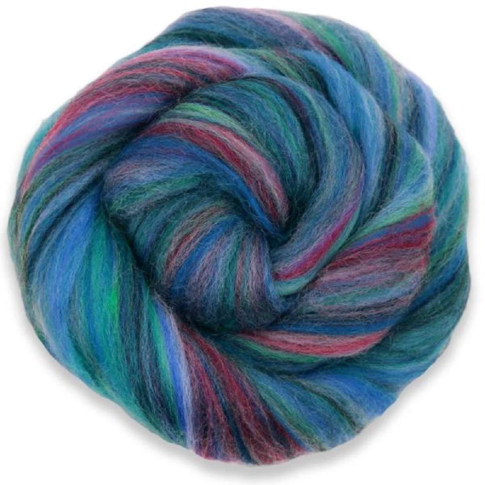 4 oz Paradise Fibers Multi-Colored Merino Wool Roving - Bermuda