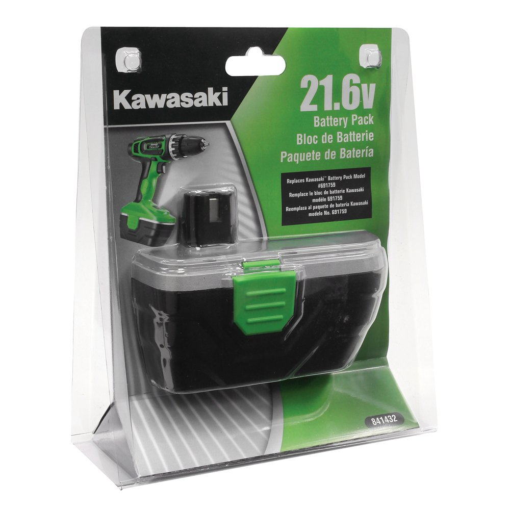Kawasaki 21.6V Replacet Battery For Compact Drills (691759 ...