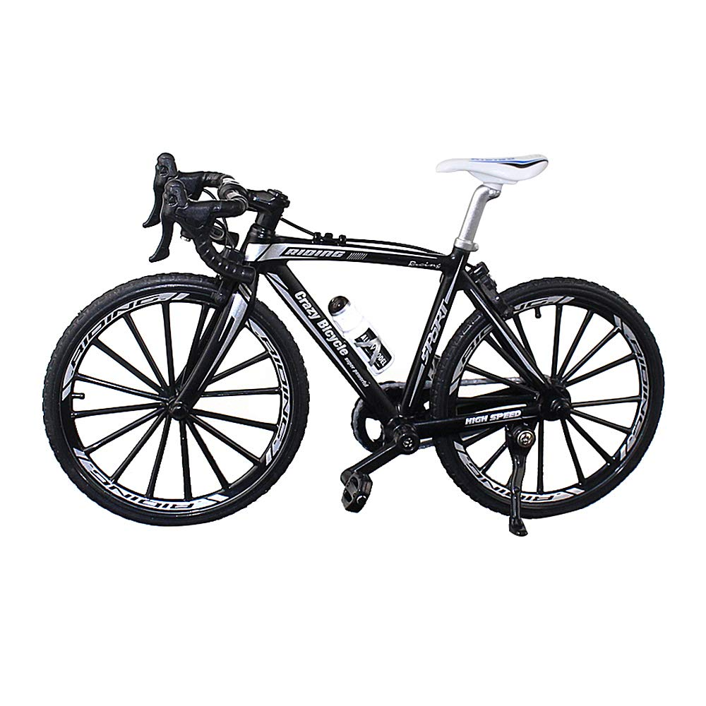 Urchins' Family Alloy Mini Bicycle Toy - Finger Bike for Collections (Bent Handlebar Racing Bike Black) by Urchins' Family