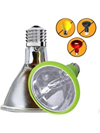 Sparkzoo Carbon Fiber Far Infrared Heating Lamp Light Bulb 75W Infrared Heat Emitter for Reptiles, Chicks, Hermit Crabs...