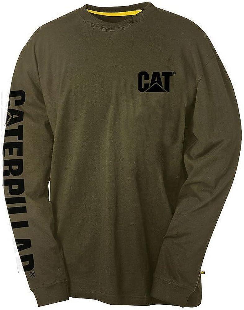 Caterpillar Pour Homme Marque Banner T-shirt à manches longues Chive