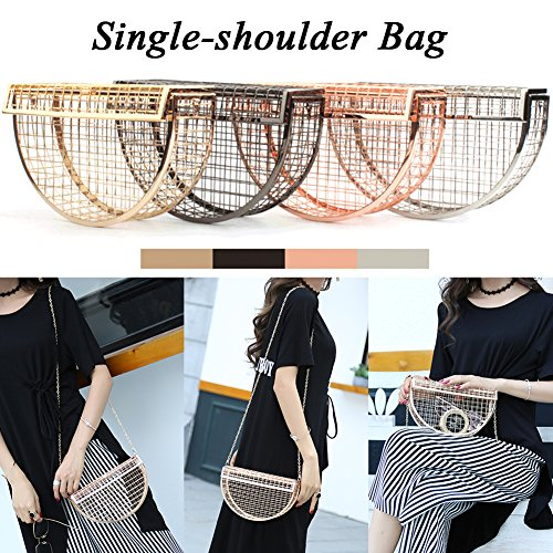 Bag Rose Shoulder Crossbody Sling Chic Clutch Bag Bag Chain Gold with Women Unique D Strap Style Yunhigh Handbag Metal Evening BqafZwW
