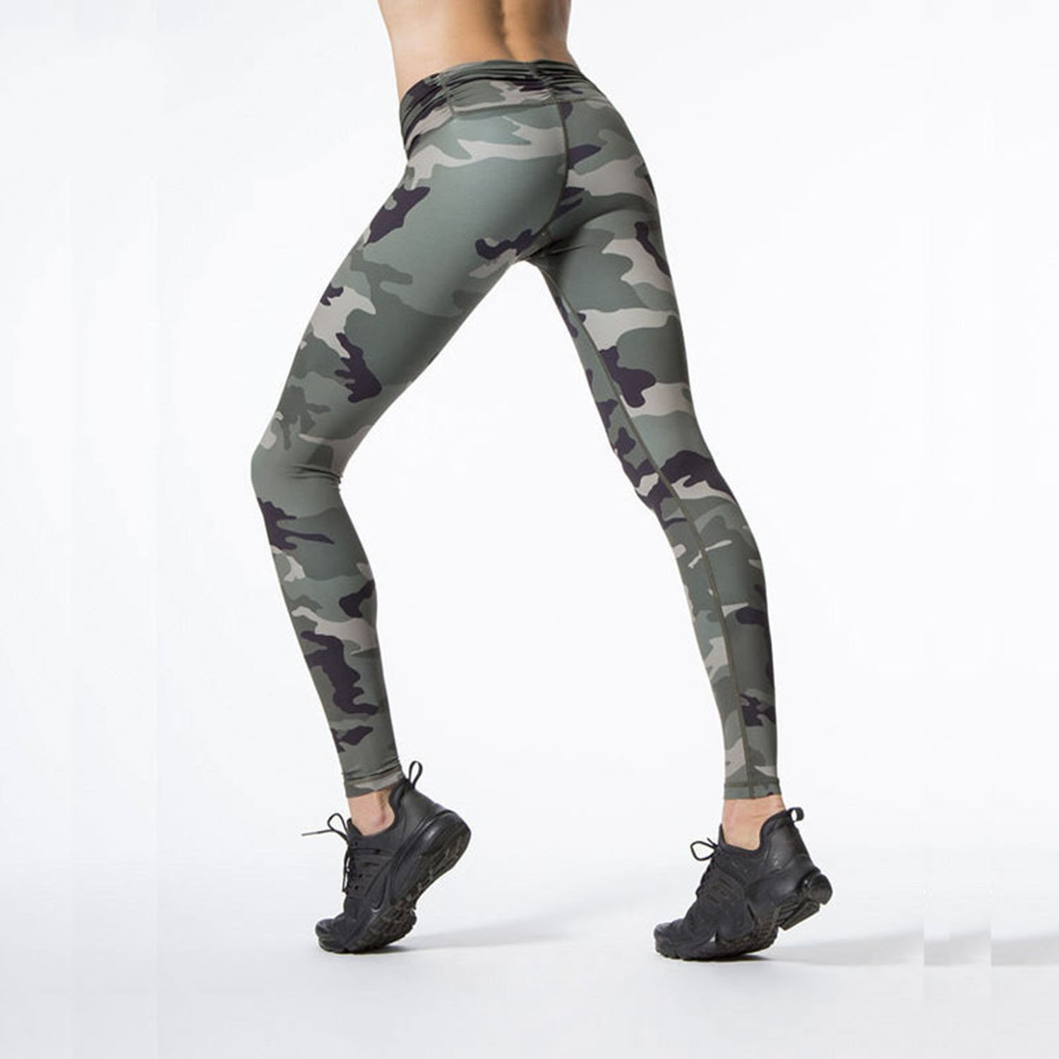 f3a65af46a150 Amazon.com: MVNTOO Women Yoga High-Waist Pant Power Flex Fitness Camouflage Leggings  Running Sport: Clothing