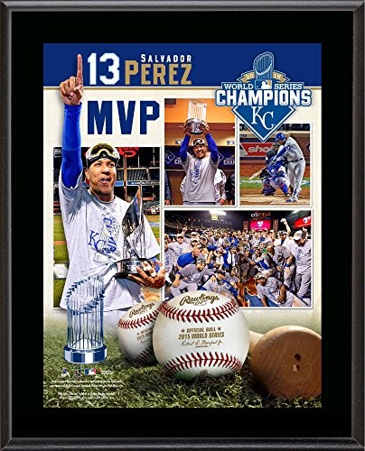 Salvador Perez Kansas City Royals 2015 MLB World Series Champions 10.5