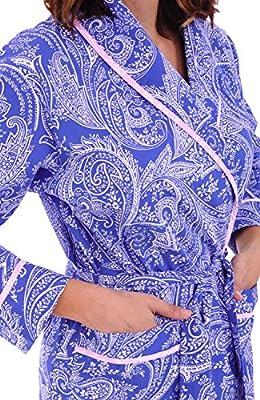 Alexander Del Rossa Womens Cotton Robe, Lightweight Woven Bathrobe