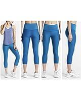 Nike Women's Zoned Sculpt Athletic 3/4 Capri Pants Blue