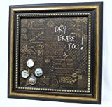 Handcrafted Magnetic Dry-Erase Memo Board - Decorative Framed Memo Board - French Country Design - includes magnets