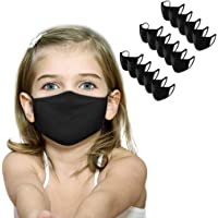Children's Solid Face Covering, Comfortable Breathable Face_Masks, Reusable Washable Protection Bandanas for Outdoor…