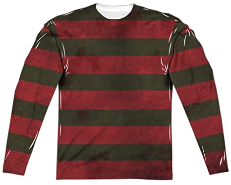 80df4394088 Amazon.com  A E Designs Nightmare On Elm Street Freddy Sweater Long Sleeve  Sublimation (Front   Back)  Clothing