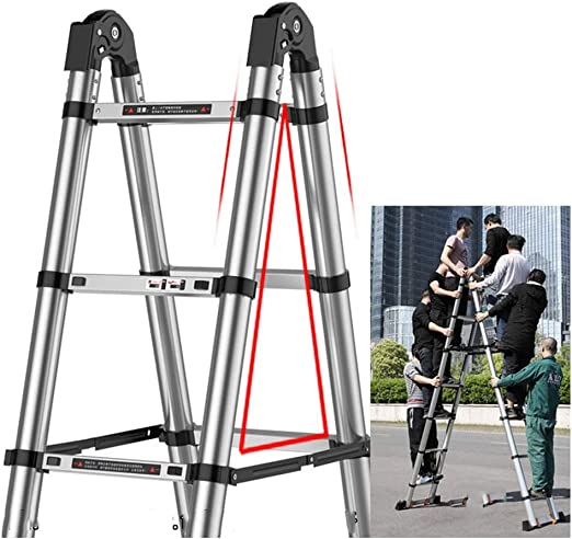 XSJZ Escaleras telescópicas Escalera Plegable, de Múltiples Funciones Escalera Antideslizante, Telescópica Aluminio for Uso Doméstico Portátil de Escalera Unilateral, Que Se Utiliza En El Hogar, Ofici: Amazon.es: Hogar
