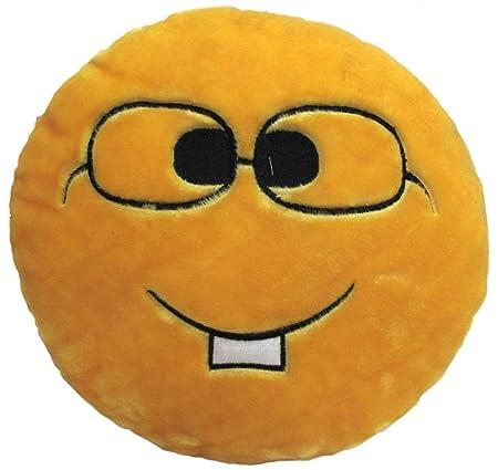Tickles Stuffed Soft Nerd Smiley Cushion Toy Pillow Car 33 cm