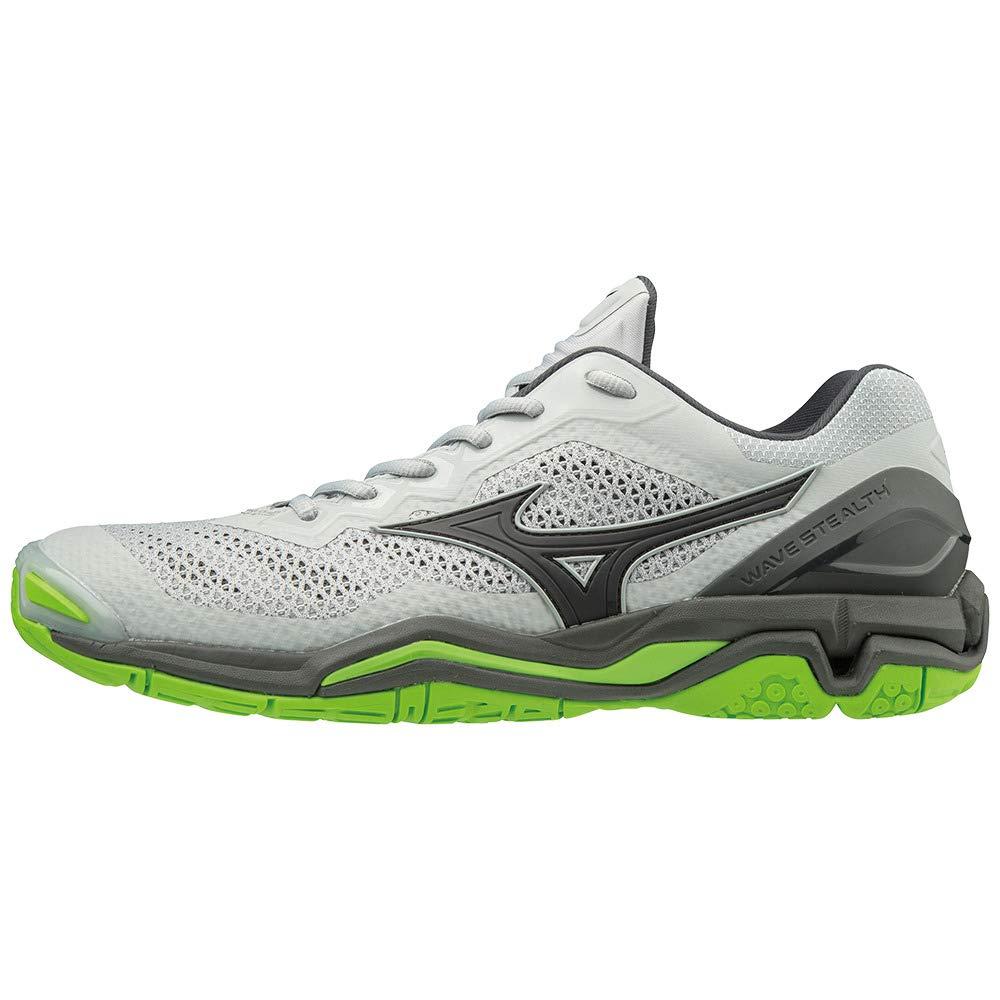 gris (Highrise noir vertgecko 37) 42 EU Mizuno Wave Stealth V, Chaussures de Handball Mixte Adulte