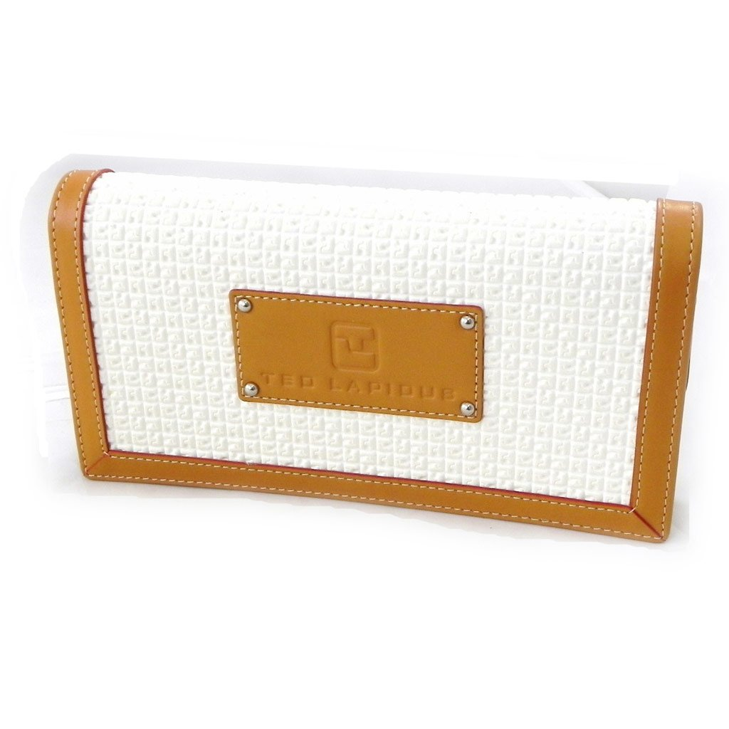 Wallet + checkbook holder zip ''Ted Lapidus'' white. by Ted Lapidus