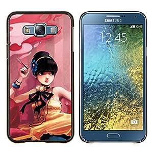 For Samsung Galaxy E7 E700 Case , Naturaleza solitaria roca- Diseño Patrón Teléfono Caso Cubierta Case Bumper Duro Protección Case Cover Funda