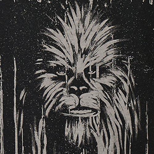 GOZOO star-wars T-Shirt Damen Vintage Wookiee Oil Dye Boxed 100% Baumwolle Grau