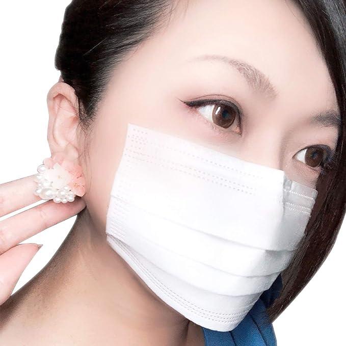 貼るマスク ひもなしで耳が痛くならない 男女兼用 貼りなおしOK PFE99%以上【5枚入】