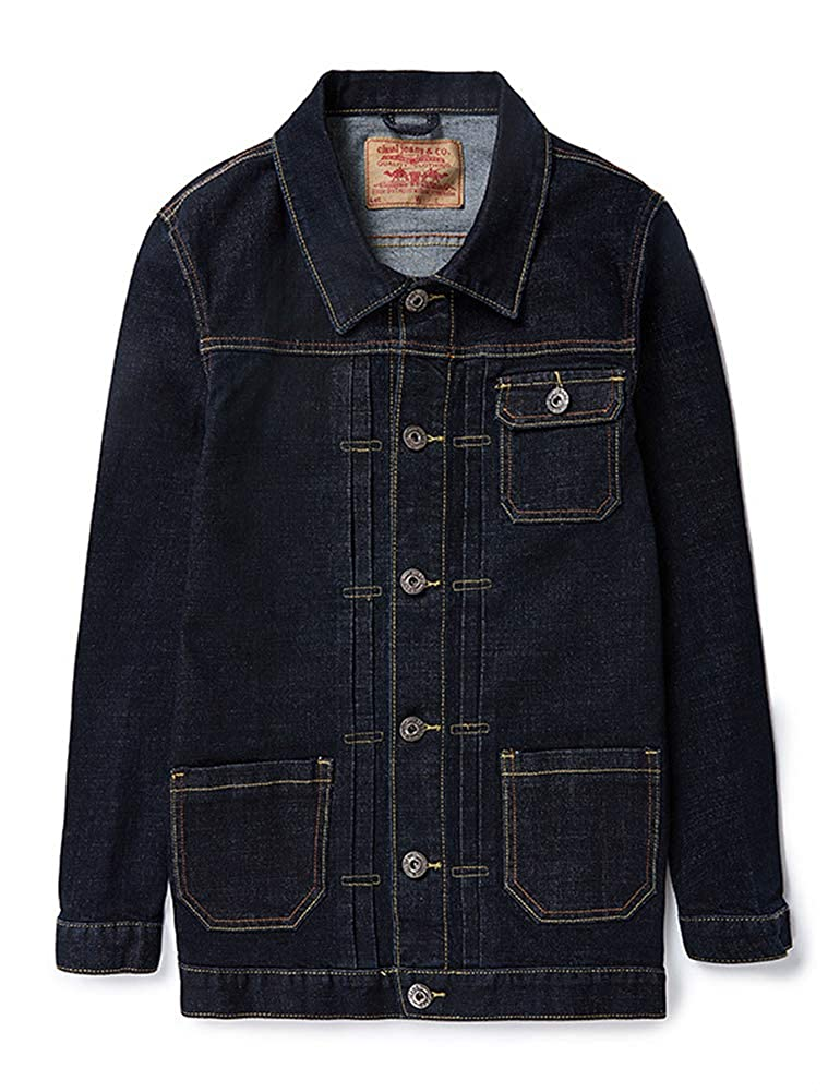IDEALSANXUN Men's Thick Plus Size Regular Button Up Denim Jacket