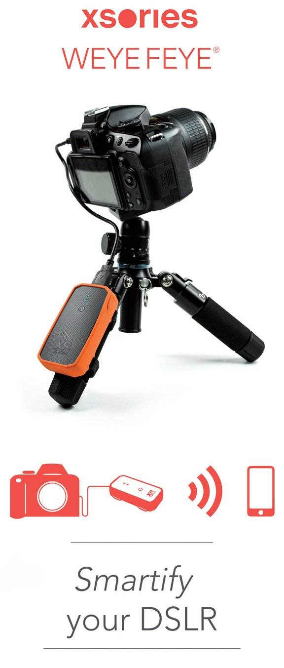 XSories Weye Feye Wireless Camera Remote Control And Instant Wi-Fi Sharing For Canon And Nikon DSLR Cameras (Black/Orange) by XSories (Image #5)