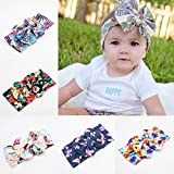 Bargain World Niños diadema turbante fotografía floral Accesorios para ropa de bebé de la flor del bowknot de la banda para la cabeza del bebé