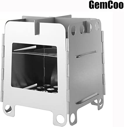 GemCoo Po/êle /à bois pliable Camping Cuisson R/échaud de Camping Pliable Po/êle Portable pour Barbecue Randonn/ée Camping Pique nique