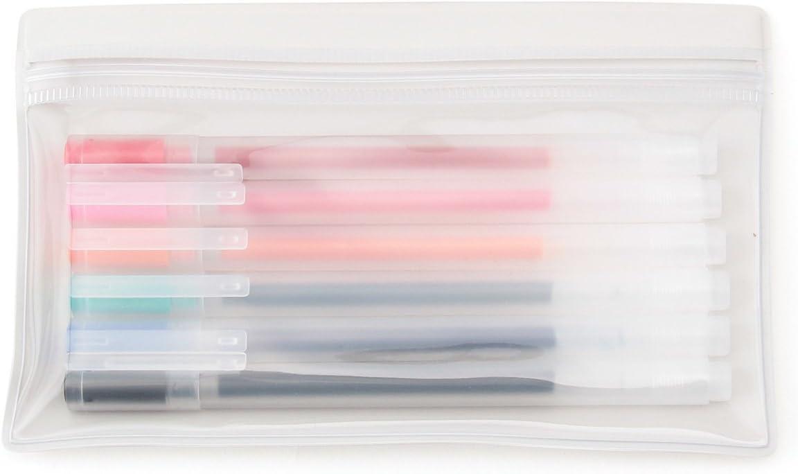 Muji Japan - Juego de bolígrafos de tinta de gel (0,5 mm, 6 colores, edición limitada, incluye estuche): Amazon.es: Oficina y papelería