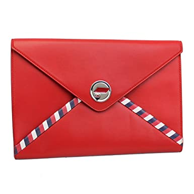 new product ef689 ac06e Amazon.com: 2016' Ss Chanel Airlines Red Leather Pouch ...