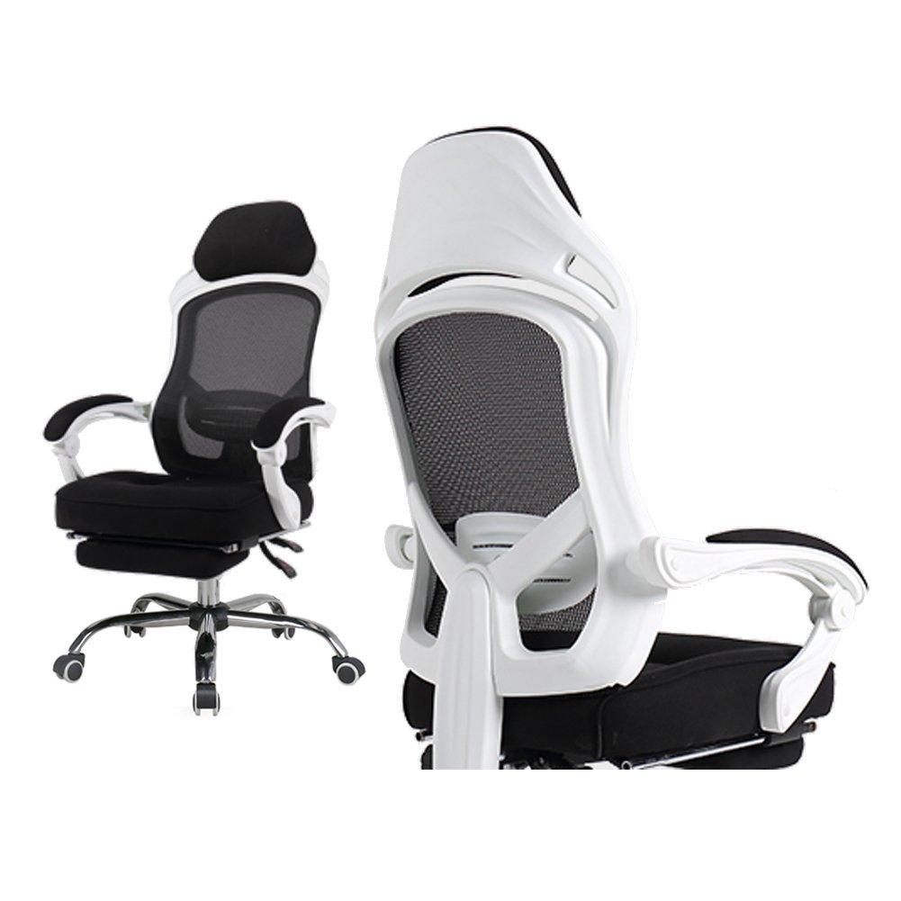 Fauteuil de Bureau Ergonomique en Maille Transpirant - Chaise de Bureau Inclinable Inclinaison de 60 degrés - 150 kg
