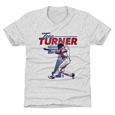 sale retailer b3579 452c9 500 LEVEL Trea Turner Washington Baseball Kids Shirt - Trea Turner Retro