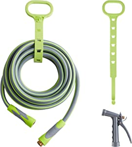 Garden Hose, Hybrid 5/8 in, Heavy Duty, Light Weight and Flexible Water Hose (Green, 25' (feet))