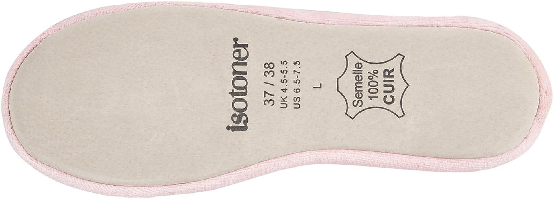 Rose Isotoner 41//42 EU Chausson ballerine Isotoner ref/_iso34217-multicolore