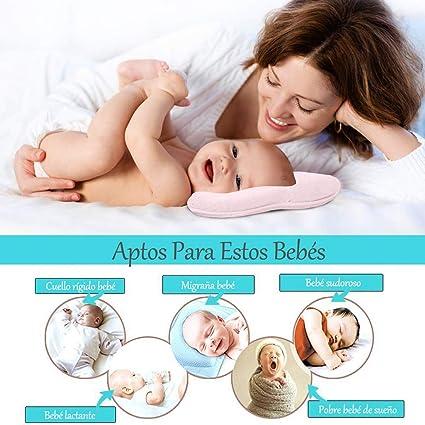Almohada para Bebe Ortopédica, Almohada Plagiocefalia Bebe, Curar la Cabeza Plana in Memory Foam Antiasfixia, Cojin Mimos Plagiocefalia en Memory ...