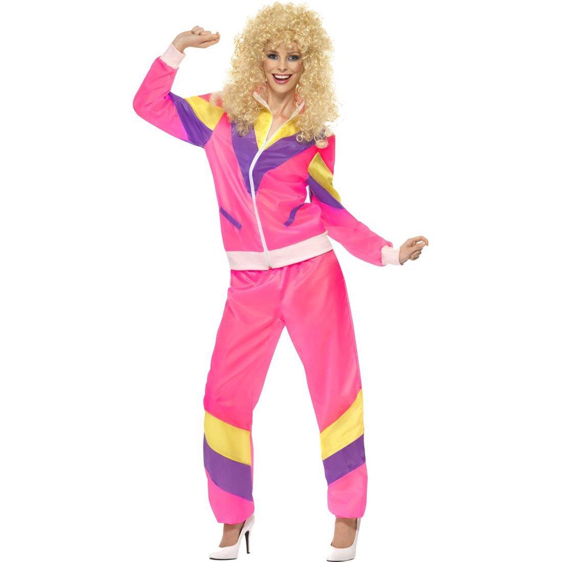 Chándal de entrenamiento para mujer años 80 disfraz traje deporte ...