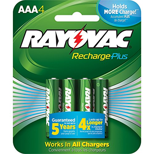RAYOVAC RECHARGEABLE Batteries PL724 4 GENE