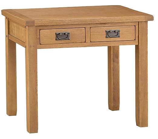 The Furniture Outlet Staffordshire rústico Roble Escritorio ...