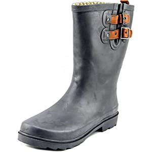 Chooka Forest Friends Women Round Toe Synthetic Gray Rain Boot