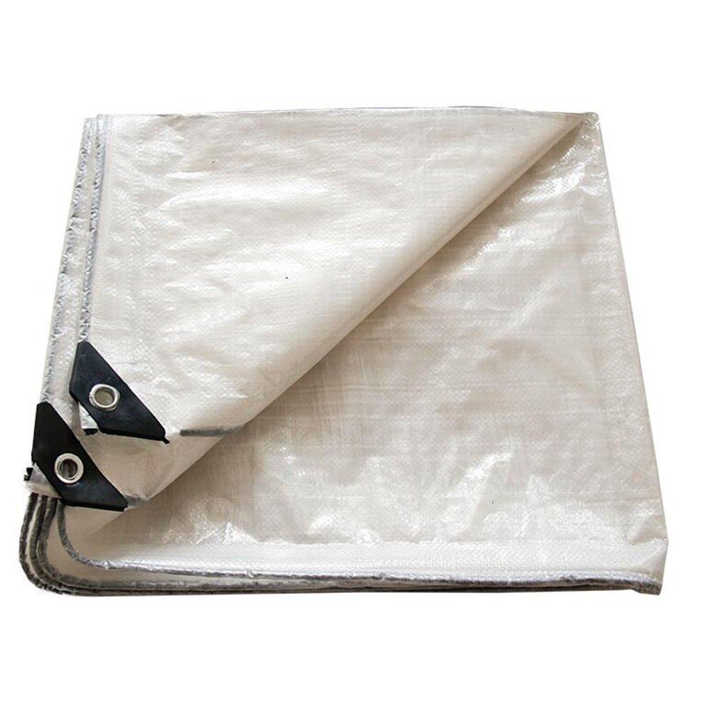Blanc 5mx6m Pengbu MEIDUO BÂches Couverture de bÂche Blanche PE imperméable à l'eau, Grande pour la bÂche de bÂche de canopée, Bateau, RV ou Couverture de Piscine -0.3mm 120g m2 pour l'extérieur