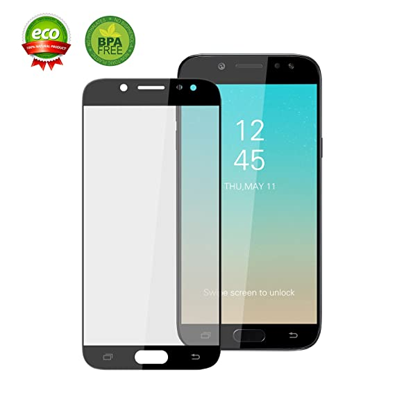 801a02511642d5 ChuangSiAo Galaxy J7 Pro Tempered Glass Screen Protector, 3D Curved  Glass,9H Hardness Tempered