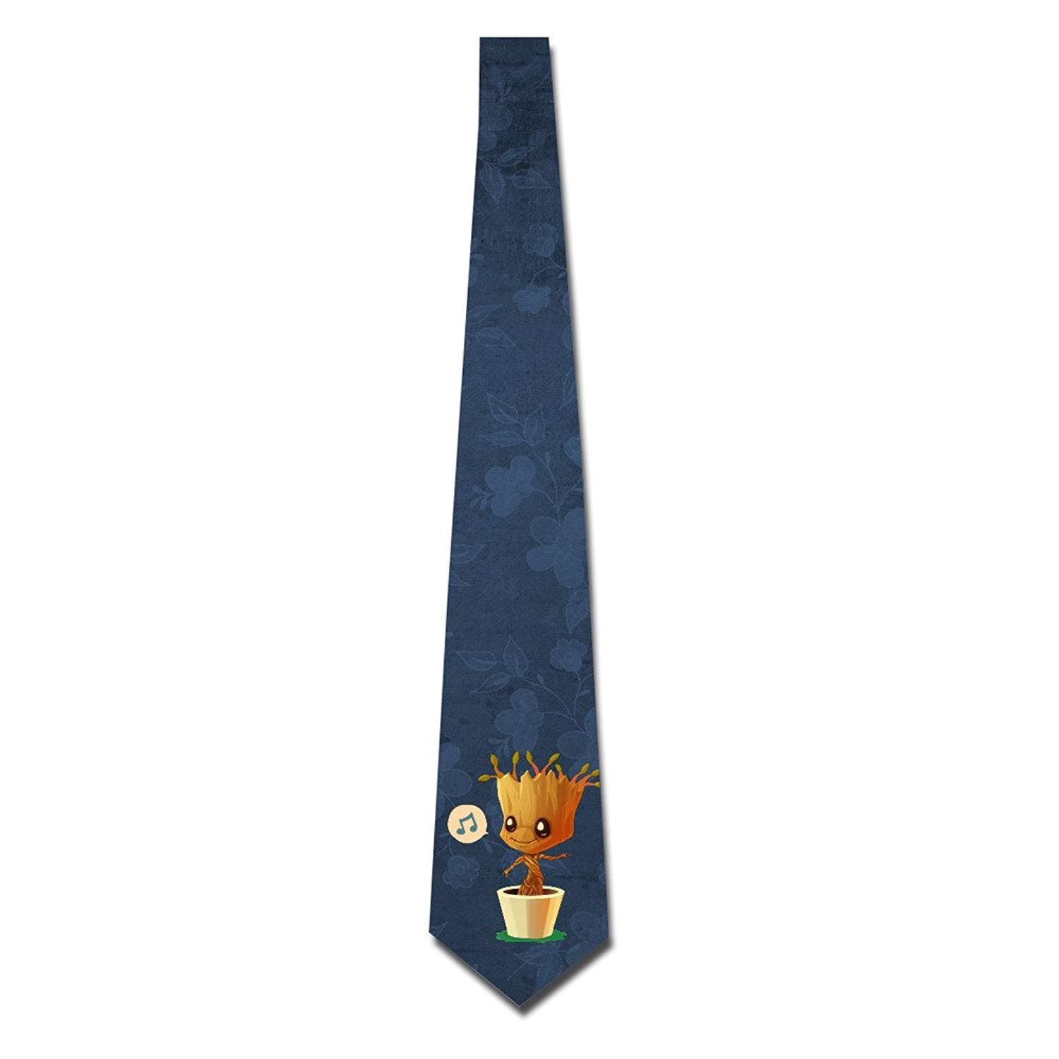 Personalized Men's Guardians Of The Galaxy Dancing Groot Fashion Tie Skinny Neckties 8723027340837