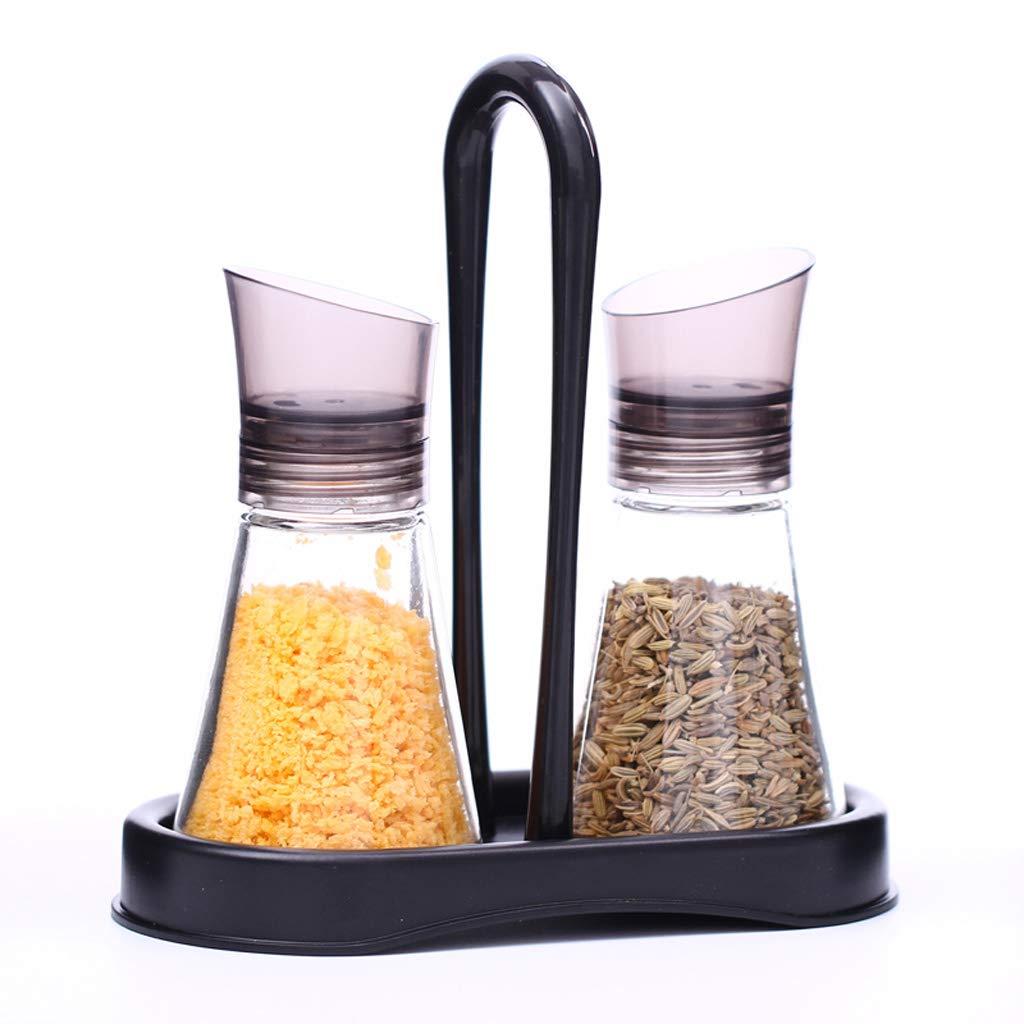 Goquik Lead-free Glass Seasoning Box Creative Kitchen Salt Bottle MSG Seasoning Bottle Set by Goquik