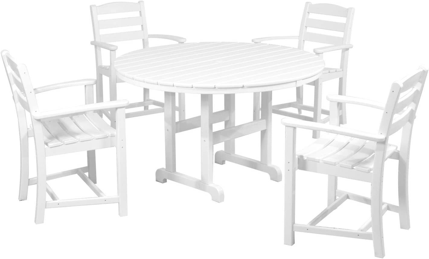 POLYWOOD PWS132-1-WH La Casa Caf 5-Piece Dining Set, White