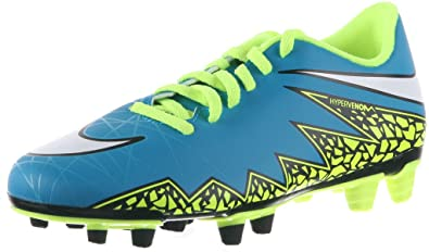 reputable site 65120 dfd18 Nike Women s Hypervenom Phade II (FG) Soccer Cleat Blue Lagoon Volt Black