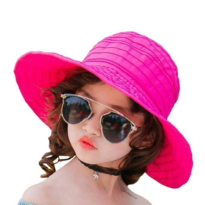 Leisial Sombrero para el Sol de Ni/ños Sombrero de Playa Plegar Protecci/ón UV Gorro de Viaje Verano para Unisex Chicos Chicas