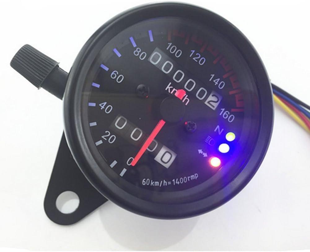 Ufirstever Mini Tacho Km H Kontrollleuchten Für 12v Universal Motorrad Kontrollleuchten Auto
